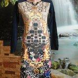 Распродажа нарядное платье турецкое с сеточкой с гипюровым рисунком