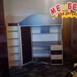 Кровать-чердак с рабочей зоной  донецк