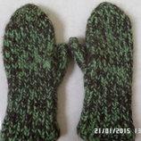 теплі вязані варежки