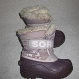 канадские зимние термо сапоги Sorel, 16,5 см стелька, сноубутсы