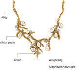 Шикарное ожерелье с цирконами