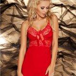 Вискозная красная сорочка Ines Dkaren удачная и популярная модель среди пеньюаров
