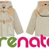 Деми пальто с капюшоном для маленького модника 3-9мес фирмы Prenatal Италия