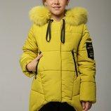 Зимняя куртка для девочки Мая олива