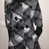 англ 12, евро 40-42 шерсть, мохер стильное пальто Easycomfort