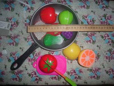 142.набор овощей и фруктов в сковороде укр 10 гр