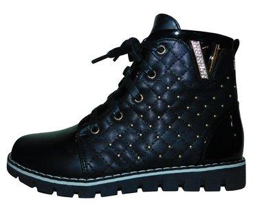 Осенние детские черные ботинки 32-35 р.