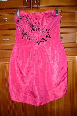 Платье бюстье нарядное темно-красное р.S