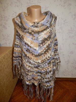 пончо вязаное стильное модное