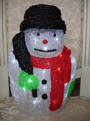 Cветящийся снеговик Новый год светильники дом интерьер декор подарки новогоднее