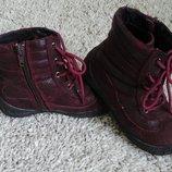 Замшевые ботиночки фирмы bloom 26 р, 17 см