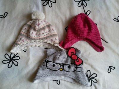 Теплые шапочки для малышек на 6-24 мес.