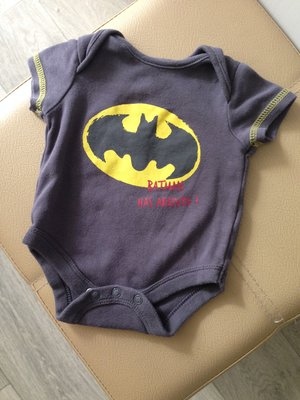 клевый стильный бодик Бэтмен на малыша 0-2 мес 4,5 кг