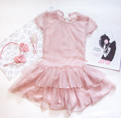 Платье с сеткой dressed to party 3-4 98-104