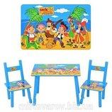 Детский столик M 1700 со стульчиками Джейк и Пираты